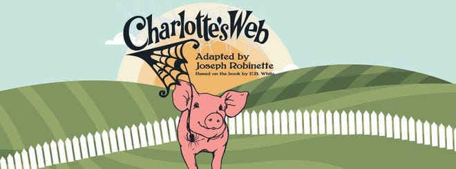 "Watershed Public Theatre's upcoming performance of ""Charlotte's Web"" will premiere as a virtual performance Thursday, Oct. 22 and Saturday, Oct. 24. (Courtesy graphic)"