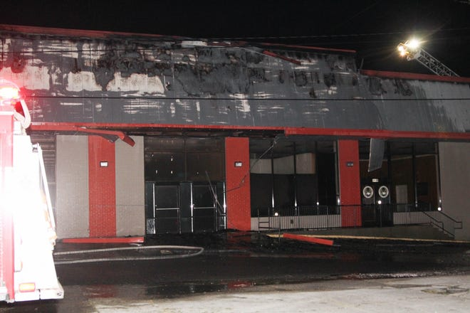 Previously housing the National and Hebert's grocery stores, the commercial building located at West 11th Street and Hwy. 1 South in Donaldsonville caught fire late Oct. 9 as winds from Hurricane Delta moved through the area.