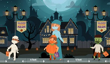 The CDC reminds little ghouls and goblins to wear a mask, and stay 6-feet apart while trick-or-treating.