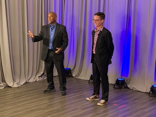 MaliVai Washington (left) and Curtis Dvorak take part in the MaliVai Washington Youth Foundation's Night of Hope virtual gala on Oct. 8.