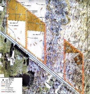 This map shows the location of three lots which the city plans to sell on East Mennonite Road. They are part of 91 acres the city bought a year ago.