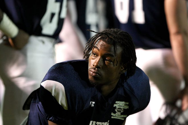 Shaborn Marshall, seen here on the sidelines at the Palm Beach County Treasure Coast All-Star Football game in 2013, was shot to death Saturday in Delray Beach. He was 27.