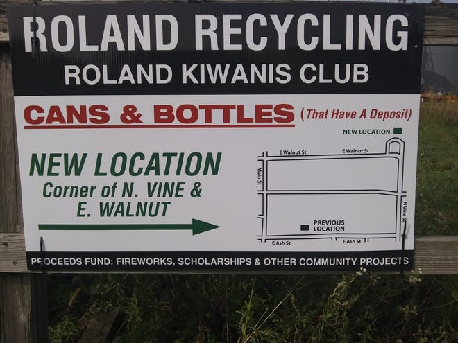 The Roland recycling cage has been moved to the corner of North Vine and East Walnut.