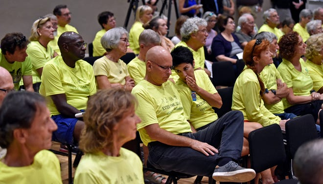 Citizen-led charter amendments were among the hot topics of a Herald-Tribune Hot Topics forum in 2018. Supporters for the Legacy Trail extension were dressed in yellows T-shirts. The Sarasota County Charter Review Board wants to make it harder to initiate citizen-led petitions.