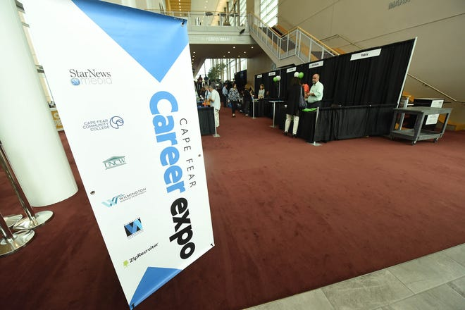 The Cape Fear Career Expo was held at the Wilson Center Tuesday Oct. 15, 2019 in downtown Wilmington, N.C. The expo was sponsored by the Wilmington Chamber of Commerce, Cape Fear Community College, UNCW, Zip Recruiter, and StarNews Media and featured job opportunities in healthcare, manufacturing, retail, sales and other industries.
