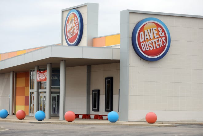 Dave & Busters in Livonia on Monday, Oct. 12, 2020.
