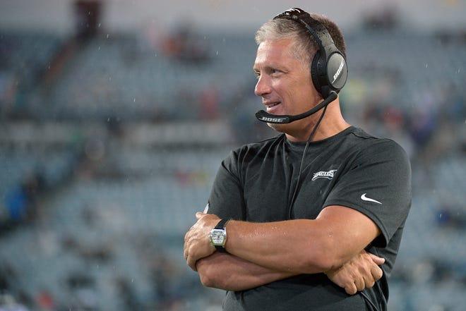 Former Lions head coach Jim Schwartz, shown here in a game last season, is the Philadelphia Eagles defensive coordinator.