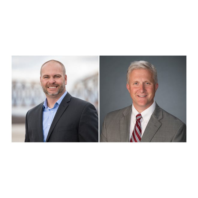 Candidates for State Representative, 11th District: Republican Jonathan Dixon, left, and Democrat Rob Wiederstein