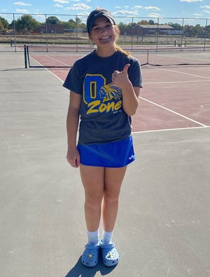 Ontario's Claire Henige finished fourth at the sectional tennis tournament to punch her ticket to districts becoming just the third Ontario High School player to make it to the district tournament since 2000.