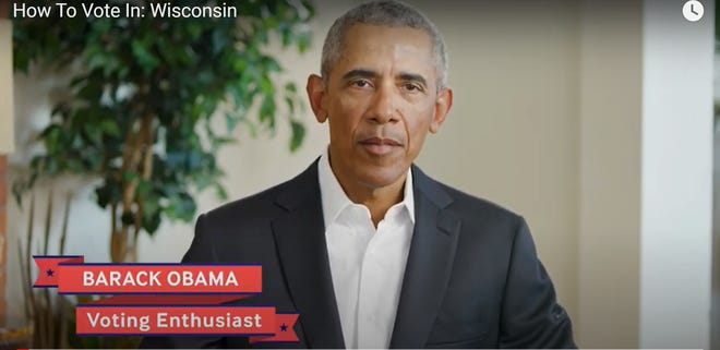 Former President Barack Obama appears in a video urging Wisconsinites to make a plan to vote.