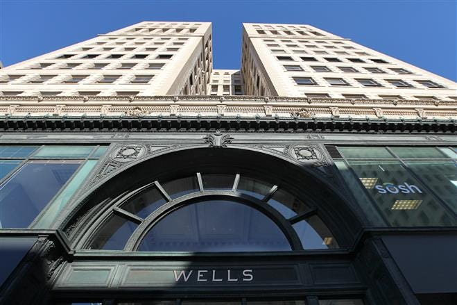 Downtown's historic Wells Building is being redeveloped to house more web-based data providers.