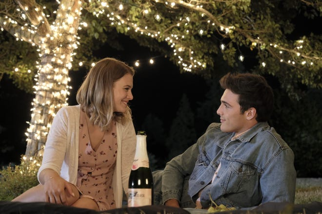 "Tiera Skovbye and Jacob Elordi star in ""2 Hearts."""