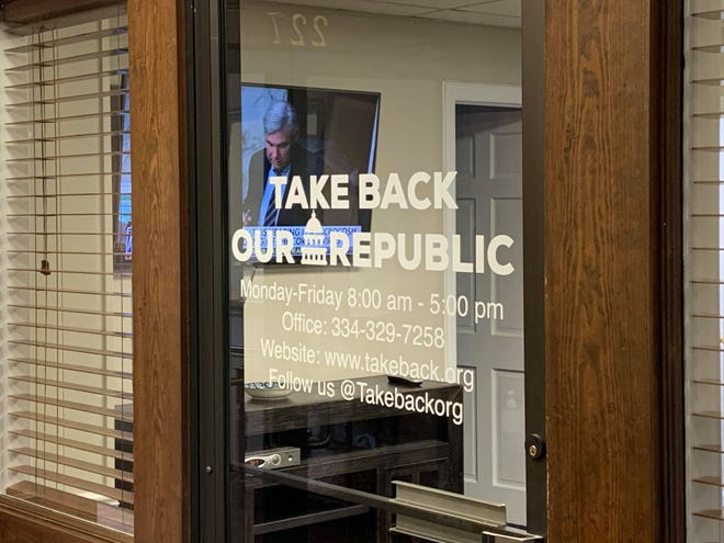 An Auburn-based group, Take Back Our Republic is campaigning against Montgomery's proposed property tax increase.