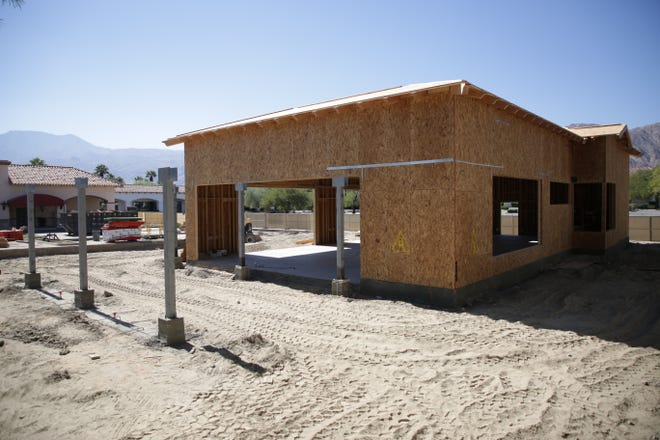 A new Starbucks with drive-thru is under construction in La Quinta Village shopping center on Sunday, October 11, 2020, in La Quinta, Calif.