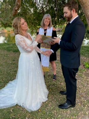 By the power vested in me by the Universal Life Church and the state of Arizona, I pronounced Virgil Bland and Tamatha Allmon to be husband and wife.
