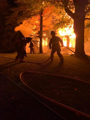 The Port Sanilac Fire Department responded to a house fire in the 1400 block of Lakeshore Road Monday morning.