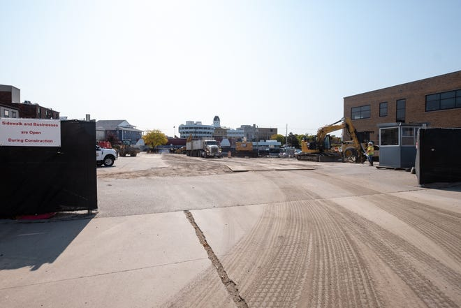 DTE is conducting a soil excavation project on a portion of Port Huron's Majestic parking lot. When the project is completed, a new parking lot will be constructed at no cost to the city.
