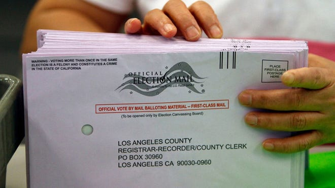For the first time, Los Angeles County is sending a mail ballot to every voter ahead of the November election. (Allen J. Schaben/Los Angeles Times/TNS)