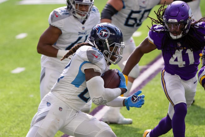 The Bills will be up against one of the best running backs in the NFL, Tennessee's Derrick Henry.