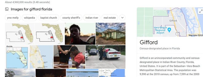 Depuis le 9 octobre 2020, Google a éliminé les images de crime de son Knowledge Panel sur Gifford, en Floride, mais certaines citées par des citoyens inquiets et la chroniqueuse de TCPalm / Press Journal Laurence Reisman restent dans la section images.