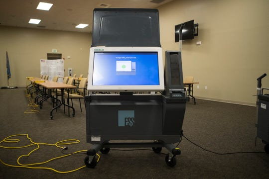 The voting machine for the 2020 general election in New Castle County will use a touch screen with a printable ballot to confirm your vote on Election Day.