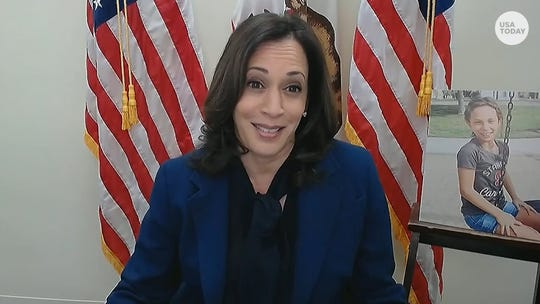 Sen. Kamala Harris discusses risks to American's rights at Judge Barrett's Supreme Court confirmation hearing.