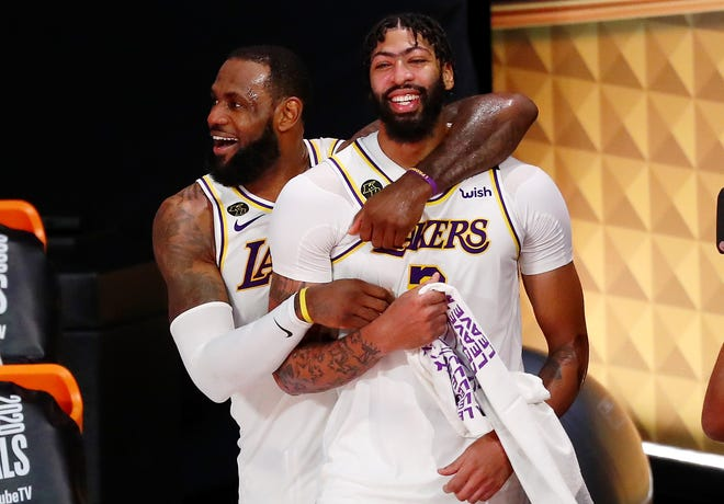 The Lakers' LeBron James and Anthony Davis are considered the best duo in the NBA.