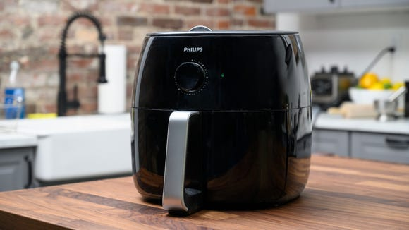 Our favorite air fryer? The Philips Airfryer XXL, which you can grab at Amazon.