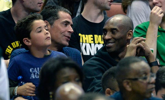 Rob Pelinka was Kobe Bryant's agent before taking on the general manager role with the Lakers in 2017.