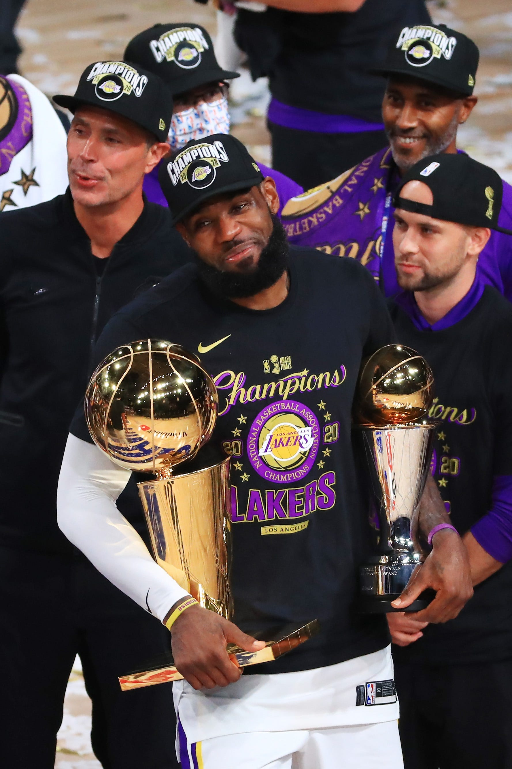 Lakers star LeBron James becomes first NBA player to win Finals MVP with three teams