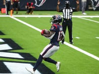 Texans wide receiver Brandin Cooks caught eight passes for 161 yards and a touchdown against the Jaguars in Week 5.