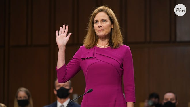 Supreme Court nominee Amy Coney Barrett spoke about the responsibility of the courts in an opening statement at her confirmation hearing.