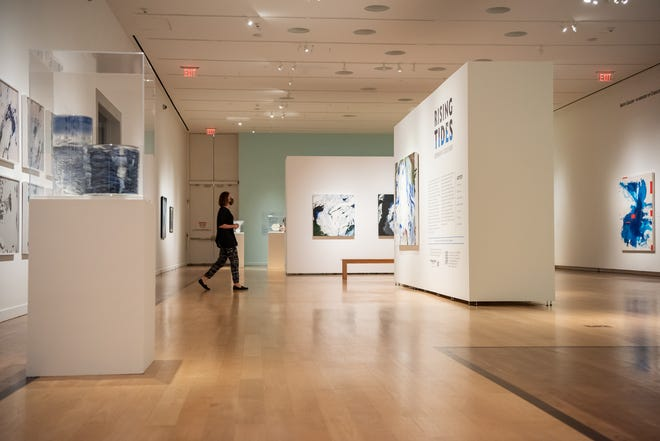 """""""Rising Tides,"""" an exhibit at the James A. Michener Art Museum in Doylestown Borough, features the work of seven contemporary artists from the Philadelphia region with a focus on the ecosystems of water."""