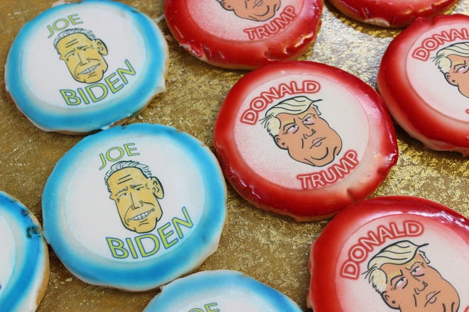 Lincoln Kretchmar, owner of Kretchmar's Bakery in Beaver, designed these presidential cookies.