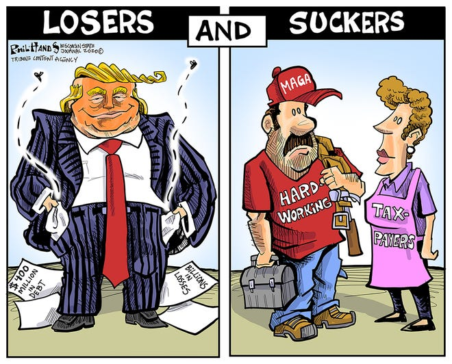 Who are the losers and suckers?