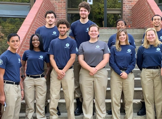 Neildino (far left) and his team Wave Five on the AmeriCorps NCCC campus in Vicksburg, MS.