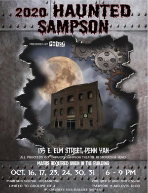 The Haunted Sampson runs from 6 to 9 p.m. Oct. 16, 17, 23, 24, 30, and 31.