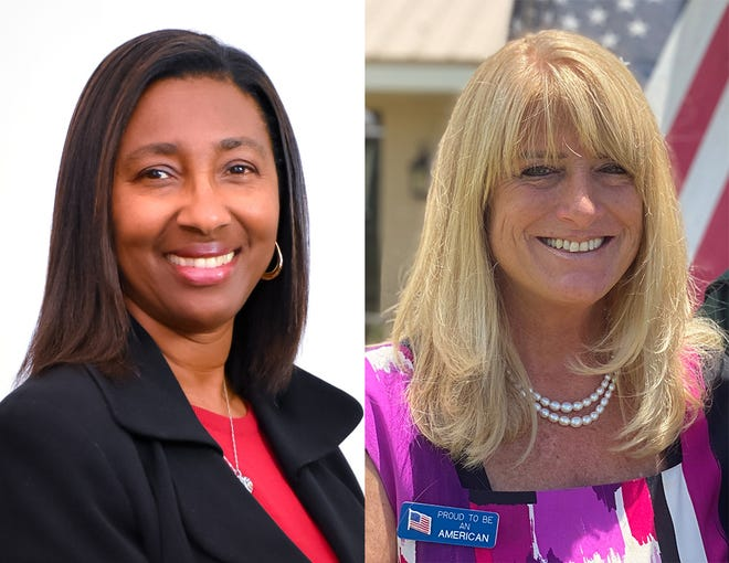 School Board candidates Mollie Cunningham, left, and Betsy Farner, right. [Submitted]