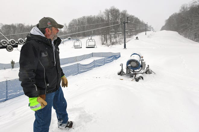 Doug Sinsabaugh is shown at Mount Pleasant of Edinboro in Washington Township in December 2019. Sinsabaugh is co-owner of the skiing, tubing and snowboarding park, which plans to open for the 2020-21 season.