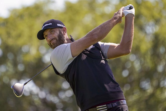 World No. 1-ranked Dustin Johnson withdrew from the CJ Cup at Shadow Creek on Tuesday after testing positive for the COVID-19 virus. He is the most prominent player since golf resumed in June to test positive. The PGA Tour said in a statement that Johnson notified officials he was experiencing COVID-19 symptoms and was given another test that came back positive. John Minchillo/Associated Press