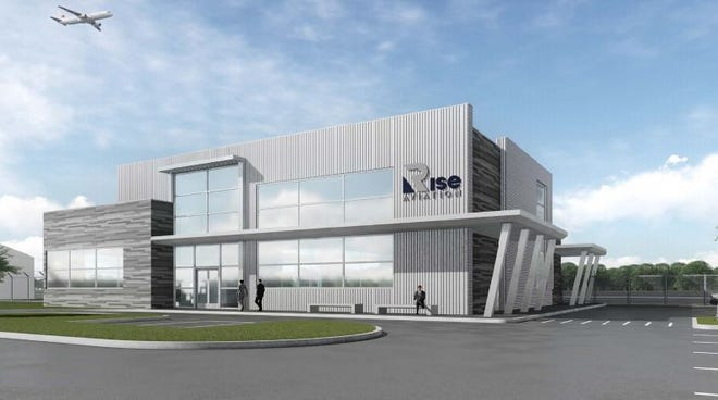 Rise Aviation gave an update on plans to build a new terminal building at North Texas Regional Airport. [courtesy photo]