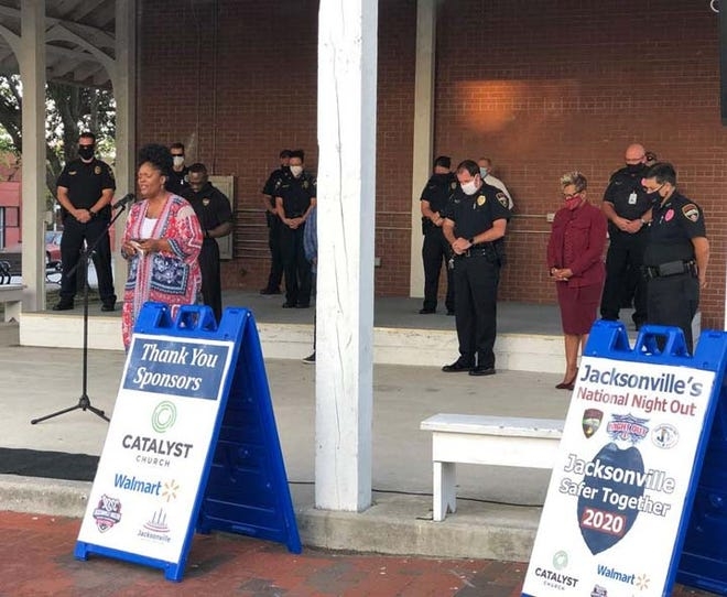 One of the events during National Night Out week was a Prayer Vigil held at Riverwalk Crossing Park in downtown Jacksonville.