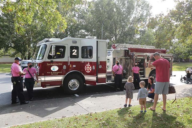 Jacksonville Fire and Emergency Services recently celebrated Fire Prevention Week with a visit to Onslow County Public Library to speak about fire safety and the importance of fire safety all year round.