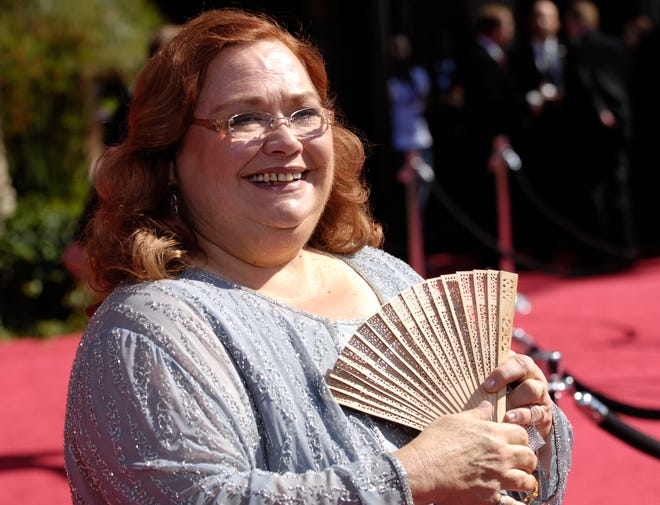 "Conchata Ferrell, who became known for her role as Berta the housekeeper on TV's ""Two and a Half Men,"" has died. Ferrell was 77. A publicist says the actor died in the Sherman Oaks neighborhood of Los Angeles following cardiac arrest, with her family at her side. (AP Photo/Chris Pizzello, File)"