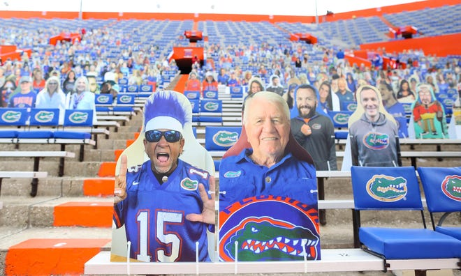 Cardboard cutouts? Florida coach Dan Mullen says he would prefer the real thing -- a capacity crowd of 90,000 for Saturday's game against LSU.