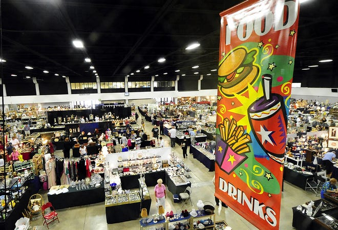 The Expo Center at the South Florida Fairgrounds, seen here during an Antiques Festival in 2009, will play host to the Home Improvement and More Show on Oct. 23-25.
