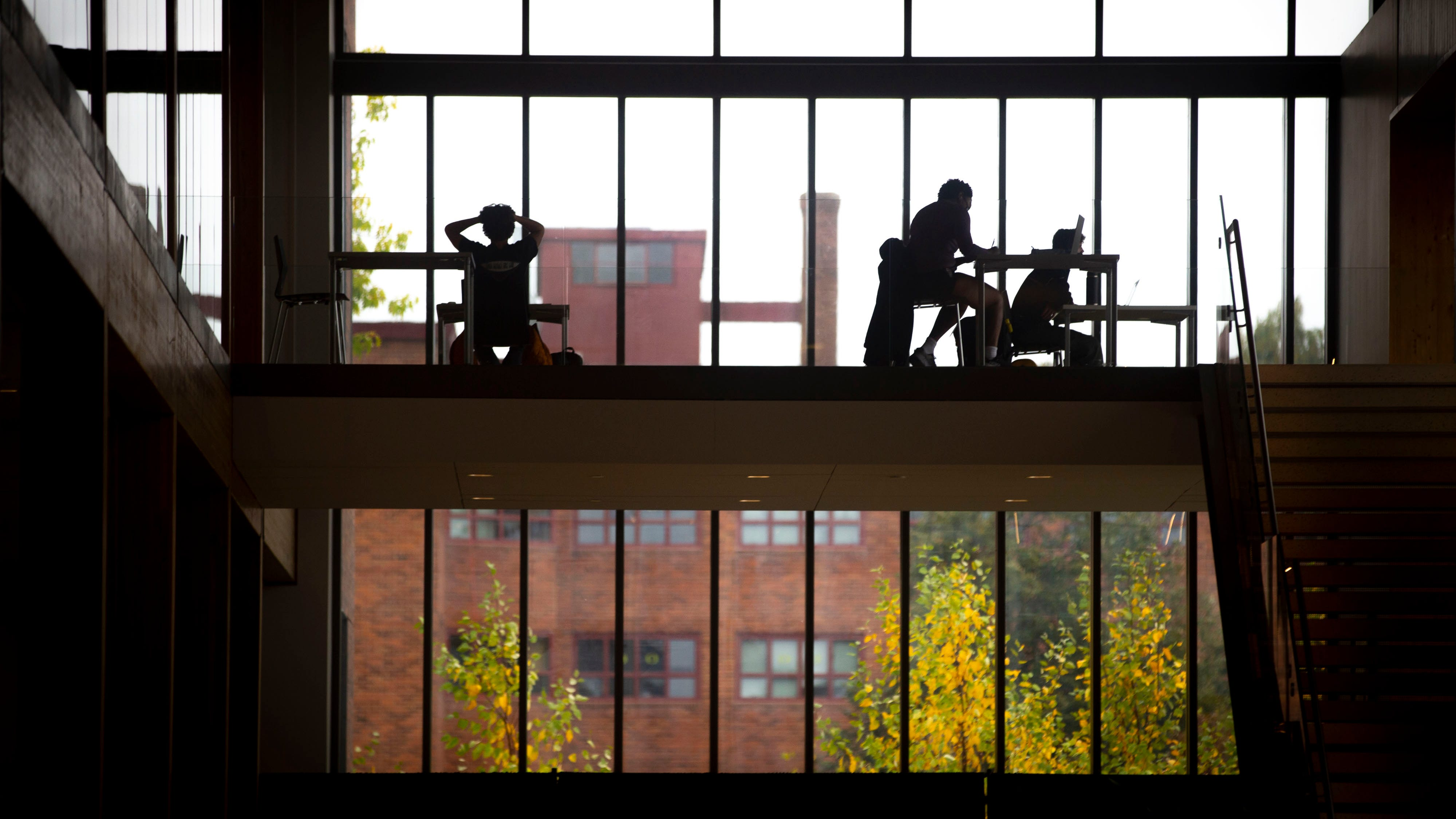 Students study in the Erb Memorial Union at University of Oregon.
