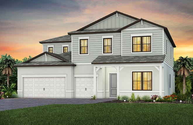 New designs at Sapphire Point in Lakewood Ranch include two-story models like the Oakhurst.