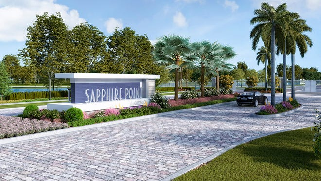 The entrance to Sapphire Point, off State Road 70 in Lakewood Ranch.