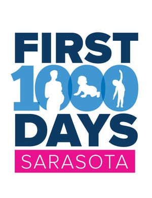 The logo for the early childhood development organization First 1,000 Days Sarasota County